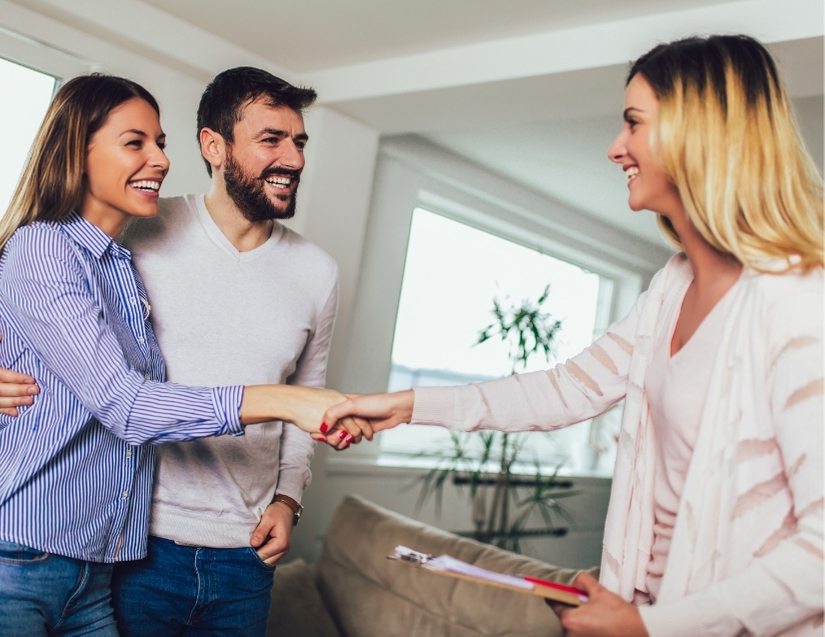 real estate agent with tenants